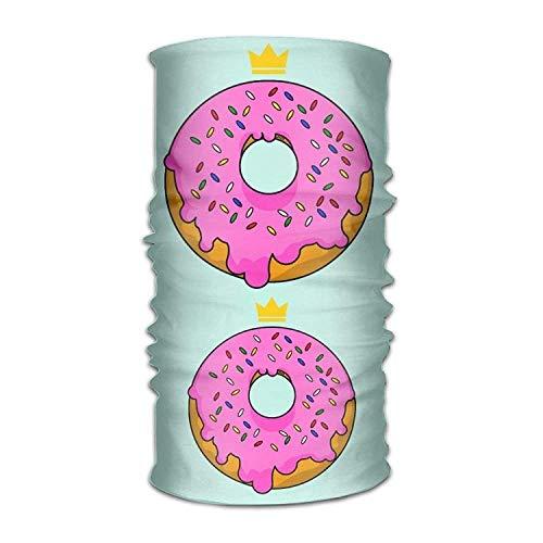 Ejdkdo Headband Bandanas Pink Doughnut Versatile Daily Magic Scarf Neck Gaiter Balaclava Helmet Liner Riding Face Mask for Kids Women Men Outdoors UV Protection Design7