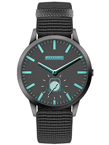 Belfort City Time Collection - Reloj de pulsera negro