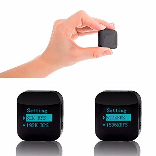 Mini Aufnahmegerät, Stimmenaktivierung, Passwortschutz, 1144 Stunden Aufnahme, 16GB, USB-Anschluss, 24 Stunden Akku
