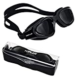 10. TOPLUS Swimming Goggles, Polarized Swim Goggles No Leaking Anti Fog UV Protection with Soft Silicone Nose Bridge and Adjustable Strap Comfort fit for Men/Women/Youth/Junior/Kids