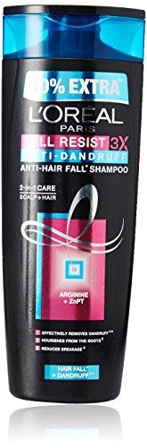 L'Oreal Paris Fall Resist 3X Anti-dandruff Shampoo, 360ml (With 10% Extra)