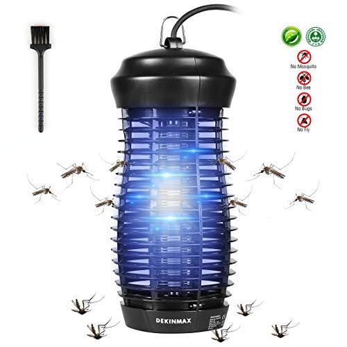 DEKINMAX Lámpara Mata Insectos Electrico Lámpara Anti Mosquitos UV Mosquitera Eléctrica (Lámpara Antimosquito 6W)