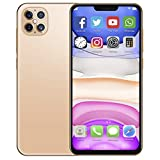 Unlocked Cell Phones with 6.6in LCD Water-Drop Screen, Dual SIM Card Dual Camera Smartphone Support for Android 10.0 Face Unlock Mobile Phone with 128G Memory Card(Champagne Gold)