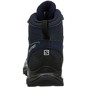 Salomon Women's Pathfinder Mid ClimaSheild Waterproof Hiking Boots, India Ink/Navy , 9 M US