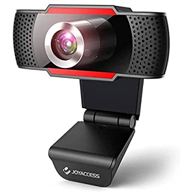 J JOYACCESS 1080P Webcam with Microphone, Web Camera with Microphone for PC, Plug and Play, USB HD Webcam for Desktop/Video Calls Recording/Studying/Game/Conferencing on Zoom/Youtube/Skype