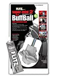 Flitz Buff Ball Car Buffer Drill Attachment with Self-Cooling Design, Never Burns + No Exposed Hardware to Prevent Scratches, Buff and Polish Any Surface, Machine Washable, 2 Inch, White (SM10250-50A)
