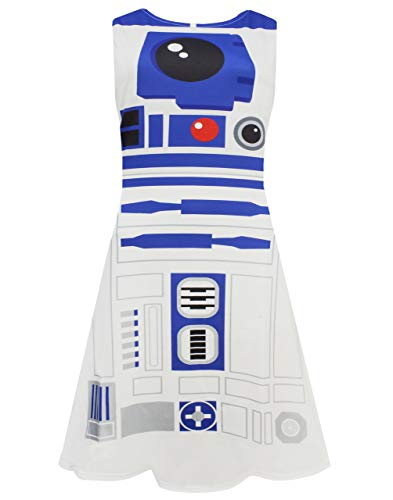 Star Wars Damen-Kostüm / Cosplay-Kleid R2D2 Gr. S, weiß