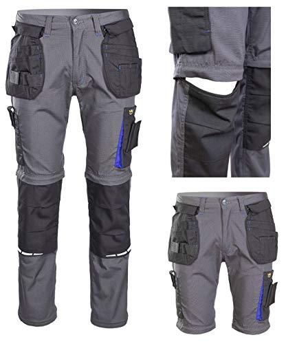 Polstar 2in1 Arbeitshose Arbeitskleidung Sicherheitshose Bundhose Schutzhose Montagehose Arbeitsshorts (50)