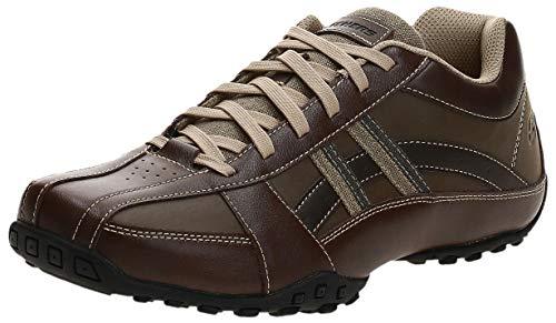 Skechers USA Men's Citywalk Malton Oxford Sneaker,Brown,10 M US