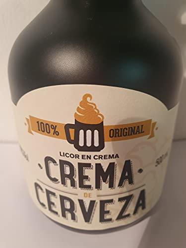 Licor Crema de Cerveza Domus. 15% Vol. alcohol. Botella 50 cl