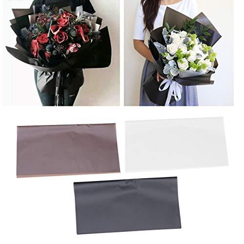Amosfun Geschenkpapier Recycling-Papier Ideal für Kunsthandwerk Blumenstrauß Geschenkverpackung Verpackung Postversand Packstück (58X58cm 20 Blatt Schwarz)