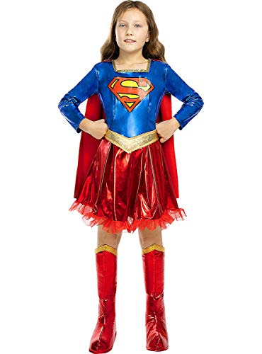 Funidelia   Disfraz de Supergirl Deluxe Oficial para nia Talla 3-4 aos Kara Zor-El, Superhroes, DC Comics - Multicolor