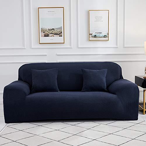 Sinoeem Fundas de Sofá de 1 2 3 4 Plazas (Gratis 2 Fundas de Almohada) Fundas de Sofa Antideslizante Cubierta Forros para Sofas Anti Arañazos Ajustable Protector para Sofá (Azul, 4 Plazas:235-300cm)