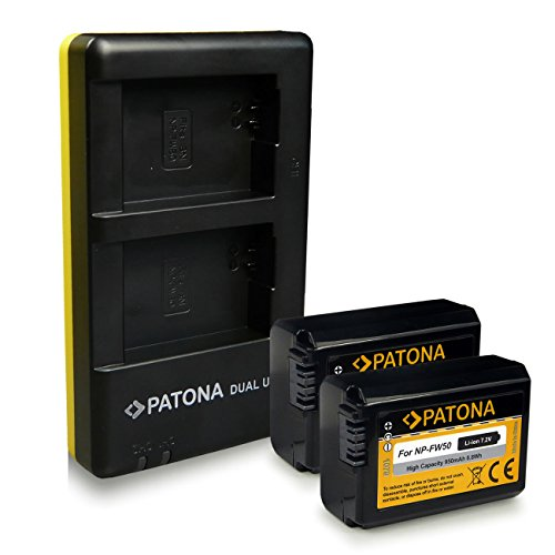 CARICABATTERIE 2x BATTERIA BATTERY np-fw50 1030mah F Sony Cyber-shot dsc-rx10 III
