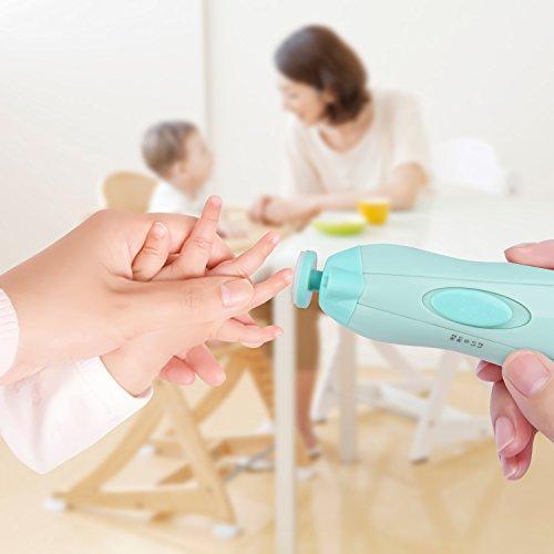 Megainvo Factory Megainvo 電動ネイルケア ベビー 爪やすり ネイルケアセット 赤ちゃん 爪みがき 大人にも 低騒音 角質除去 甘皮処理 アタッチメント10個