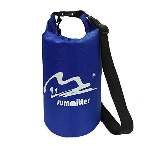 Summitter-Dry Bags Waterproof Ultralight,Durable Soft Wet and Dry Compared 3 pcs Sets Dry Sack,5L/10L/20L/30L Dry Bags for Boating,Kayaking (Blue, 20L)