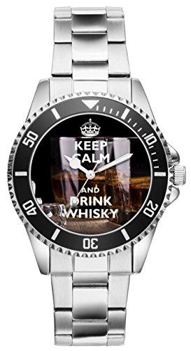 Geschenk für Whisky Liebhaber Fan Whiskey Kenner Uhr 10114
