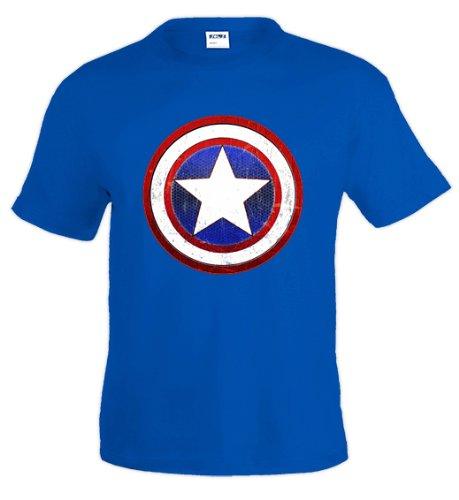 Camiseta Capitan America (Escudo) (Talla: Talla M Unisex Ancho/Largo [53cm/72cm] Aprox)