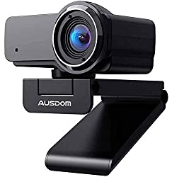 in budget affordable HD 1080P webcam with microphone, Ausdom USB computer webcam, OBS live streaming webcam, …
