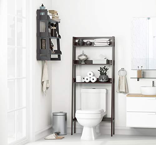 UTEX 3-Shelf Bathroom Organizer Over The Toilet, Bathroom Spacesaver (Espresso)