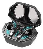 JSY Auriculares de juego Auriculares Bluetooth Auriculares Deportes impermeables Auriculares inalámbricos Auriculares Cancelación Auriculares para Gamer Silver Conexión rápida y estable Manos libres B