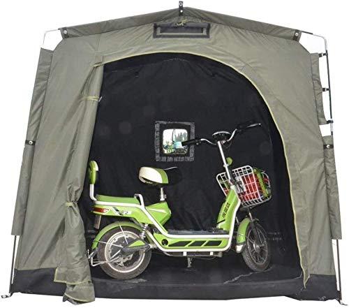 N\A ZT Moto cobertizo de Almacenamiento Abrigo de la Tienda Patio de Almacenamiento Exterior con Ventana de diseño for 2 Bicicletas for Adultos o Bicicleta Jardín Grupo de Almacenamiento