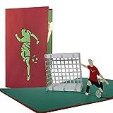 Felicitacion cumpleaños para niños. Tarjeta cumpleaños, tarjetas futbol para niño como invitaciones futbol. Tarjetas regalo, tarjetas felicitacion desplegables, H04