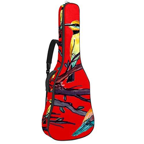 Tasche für Akustikgitarre, mit mehreren Fächern, dicke Polsterung, wasserdicht,...