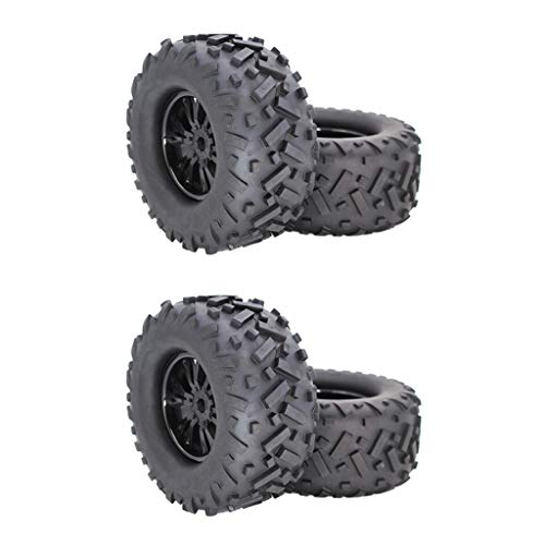 Hellery 4 Piezas 17 Mm Rueda Hexagonal 170 Mm Buggy Neumáticos para HSP HPI 1/8 RC Buggy Monster Truck