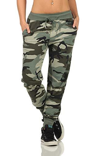 Danaest Pantalones de deporte para mujer de camuflaje (499) militar S