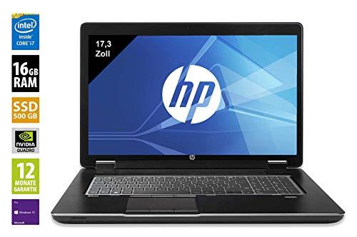 HP ZBook 17 G2   Workstation   17,3 Zoll   Core i7-4810MQ @ 2,8 GHz   32GB RAM DDR3   500GB SSD   Nvidia Quadro K5100M   FHD (1920x1080)   Webcam   Windows 10 Pro (Zertifiziert und Generalüberholt)