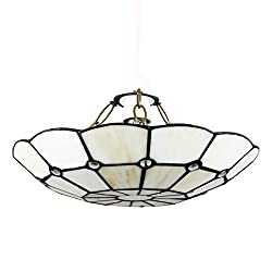 Easy Fit Pendant Light Shade - Fits To Your Existing Lamp Holder In Seconds Tiffany Leaded Stained Glass Measurements: Height 70mm x Diameter 305mm 1 x 60w BC B22 GLS Bulb or an Energy Saving Equivalent is Required Ideal For Any Room In Your Home - R...