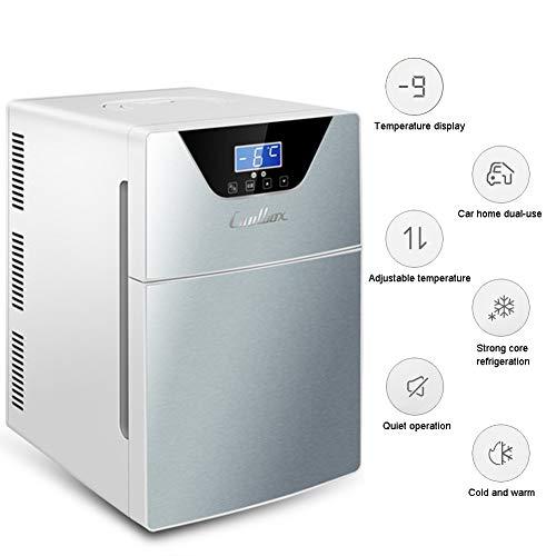 LHY Getränkekühler - Minibar, 20 L, Doppeltür Zweikerniges Kühl- Und Heizsystem, -9-65°C, Nur 30 Db, Umweltfreundlich [Energieklasse A+]