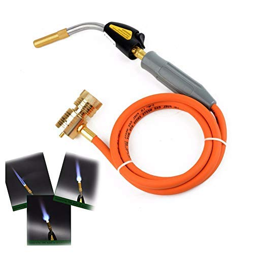 favourity-home Professional MAPP Gas Torch Brazing Torch of Propane Gas 1.5m Hose for Brazing Soldering Welding Heating Application can Also be Used for BBQ HVAC Plumbing