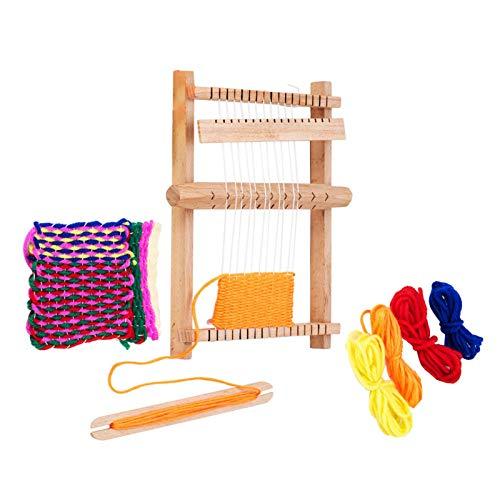 Wenhe Kit de telar de madera con cuerda de nailon y otros para tejer, para interiores y adultos, niños