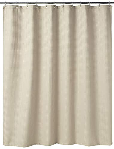 Dainty Home Waffle Weave Honeycomb Hotel Collection Duschvorhang, Waffelgewebe, Wabenstruktur, Polyester, Naturfarben/Beige, 70 inches Wide x 72 inches Long