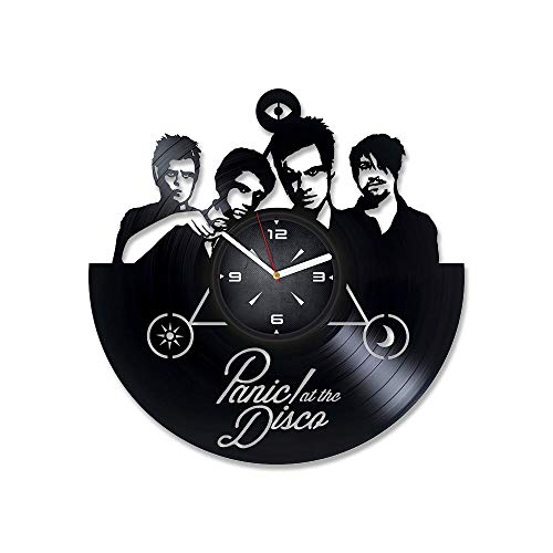 Music LP Vinyl Record Wall Clock. Decor for Bedroom, Living Room, Kids Room. Gift for Friends. Christmas, Birthday, Holiday, Housewarming Present. Rock Band.