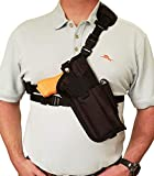 Silverhorse Holsters Chest/Shoulder Gun Holster | Fits Glock 40 MOS with a Flashlight and 2' Compensator and Other Similar Sized Guns (Right)
