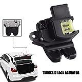 Unikpas Rear TailGate Latch Trunk Lid Lock Actuator Compatible for Kia Rio Sedan 2012-2017 Replace Liftgate Latch Lock 81230-1W000
