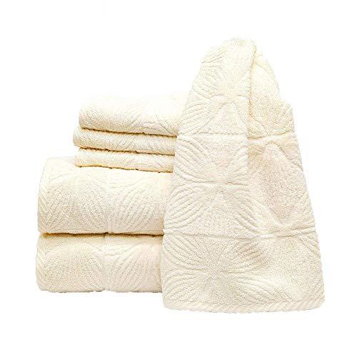 my cocooning Handtuch Set Agatha 6-teilig Creme | kuschelweich & saugfähig | 100% Baumwolle | 2X große Duschtücher (70x140cm) & 4X kleine Handtücher (50x80cm) | waschmaschinenfest