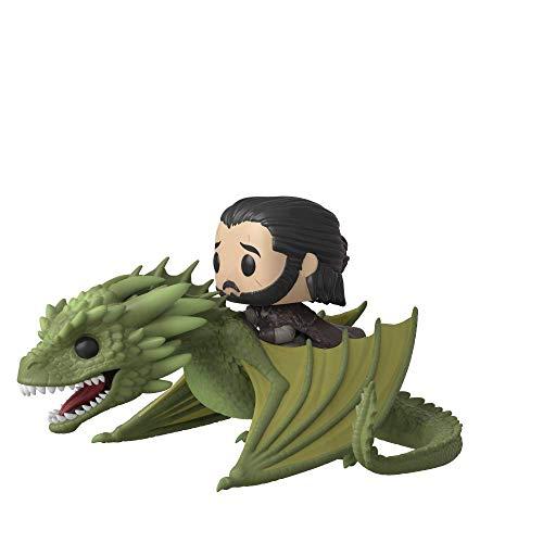 Funko Pop Rides: Game of Thrones-Jon Snow w/Rhaegal Figura Coleccionable, Multicolor (44448)
