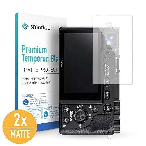 smartect Mattes Panzerglas kompatibel mit Sony Alpha 6000 [2X MATT] - Displayschutz mit 9H Härte - Blasenfreie Schutzfolie - Anti Fingerprint Panzerglasfolie