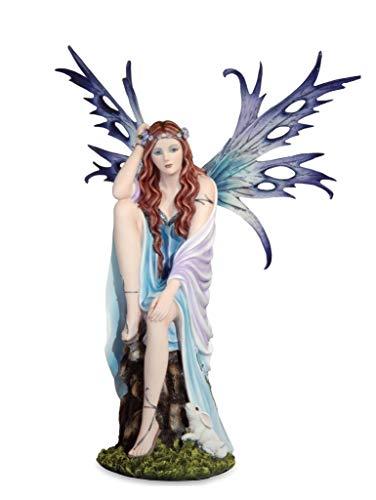 Les Alpes Orig. Fata Erika, 44,5cm, Collezione Fairy Land - Statuetta Figura Dipinta a Mano - Scopri la magia - 042 605