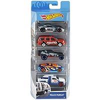 Hot Wheels- Disney Pack de 5 vehículos, coches juguete, 5+ (Mattel 1806)