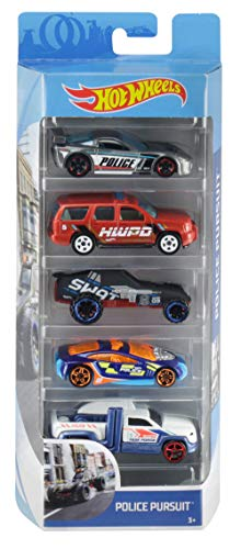 Hot Wheels Pack de 5 vehiculos, coches de juguete (modelos surtidos) (Mattel 1806)