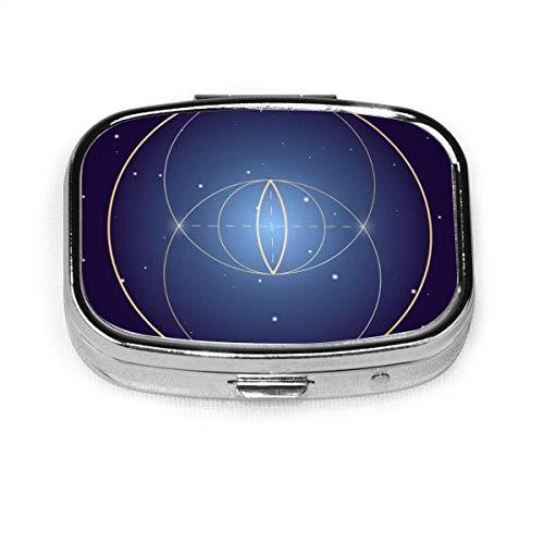 Vesica Piscis Symbol Sacred Geometry Custom Fashion Square Pill Box Tablet Holder Pocket Purse Organizer Case Decoration Box