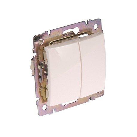 potente para casa Legrand – 774405 Interruptor doble 10ax / 250v Blanco Ballena Artículo No. 6561010035