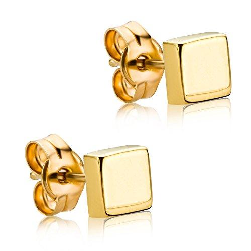 Orovi Ohrringe Damen Gelbgold 9 Karat / 375 Gold Ohrstecker