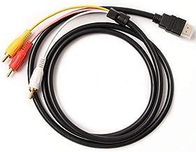 Maofuxing Câble HDMI vers RCA, 1080P HDMI mâle vers 3 RCA Audio Vidéo Câble Adaptateur convertisseur de Composants AV pour...
