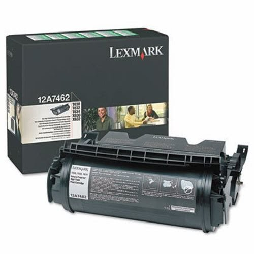 Lexmark 12A7462 - LEXMARK T630 BLACK TONER PRINT CARTRIDGE
